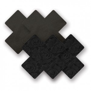Naklejki na sutki - Nippies Basic Black Cross