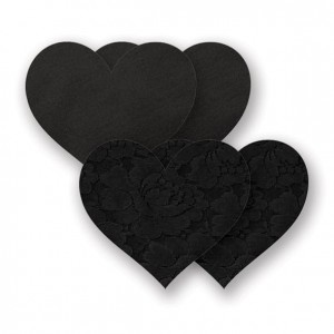 Naklejki na sutki - Nippies Basic Black Heart