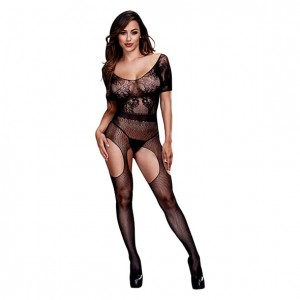 Bodystocking - Baci Crotchless Suspender Bodystocking One Size