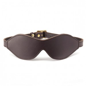 Opaska na oczy - Coco de Mer Leather Blindfold Brown