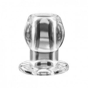Korek analny tunel - Perfect Fit Tunnel Plug Medium Clear Przezroczysty Średni
