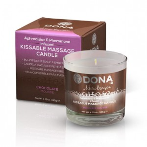 Jadalna świeca do masażu - Dona Kissable Massage Candle Chocolate Mousse Czekoladowa
