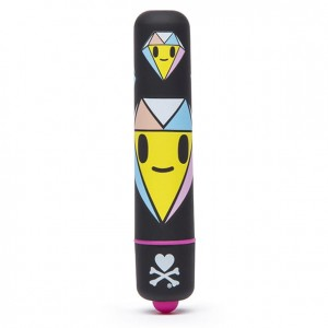 Mini wibrator - Tokidoki Mini Bullet Vibrator Black Diamonds