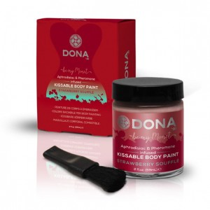Farba do ciała - Dona Body Paint Strawberry Soufflé 60 ml Truskawkowa